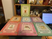 LOT of 7 Vintage Beatrix Potter Peter Rabbit Hardcover Books F. Warne & Co.
