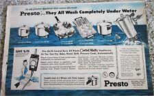 1959 Presto Appliances ad