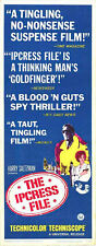 THE IPCRESS FILE original 1965 14x36 insert movie poster MICHAEL CAINE