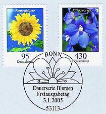 BRD 2005: Blumen Nr. 2434 + 2435 mit dem Bonner Ersttags-Sonderstempel! 1A! 153