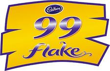 99 Escama Cadbury Ice Cream Van etiqueta engomada, Sombrero, puerta con el logotipo, catering, cafetería calcomanía