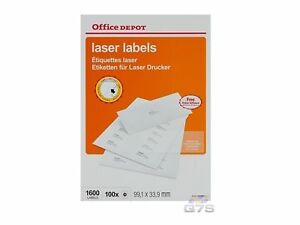 16 Label Laser Labels(99.1 x 33.9 mm) - 100 x Sheets Rounded Corners-1600 OD