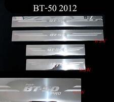 Step Trim Step Plate Scuff Chrome 4 Door FOR 2012-18 Mazda Bt50 Bt-50 Pro Pickup