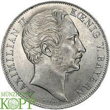 E633) Bayern Doppelgulden 1853 Maximilian II. Joseph 1848-1864