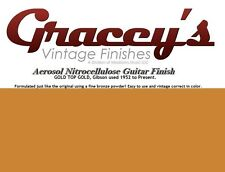-Gold Top Gold- Gracey's Vintage Finishes Nitrocellulose Guitar Lacquer Aerosol.