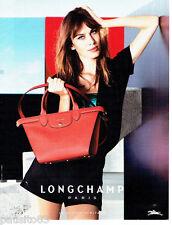 PUBLICITE ADVERTISING 106  2015   le sac Longchamp pliage Heritage       171016