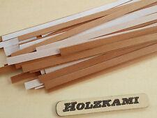 50 Holzleisten Birne  300mm x 2,5mm x 0.6mm   L/B/H  Selbstklebend  Neu