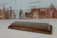 Transquip O Scale Trolley / Engine Display Case With Wood Base & Asphalt Road