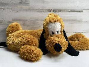 "Walt Disney World Fluffy Pluto 28"" Dog Plush Stuffed Animal Pillow Pouch Zipper"