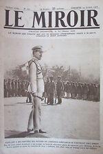 WW1 LE MIROIR 1916 ROI DE GRECE AVIATEUR ANGLAIS ATTAQUE OBUS GENERMONT COMBLES