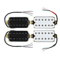 White/Black Electric Guitar Humbucker Pickup Set or Neck/Bridge Pickup Hex Poles