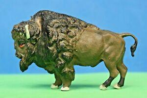 Britains Plastic Zoo Models: #1354 AMERICAN BISON (Dark Brown PVC Plastic)
