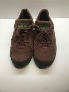 Ecolution Mens Hemp Sz 8.5Brown Lace Up Soft  Vegan