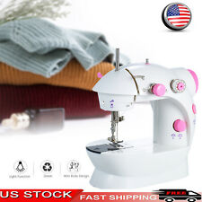 Mini Sewing Machine Adjustable 2-Speed Double Thread Portable Electric Household