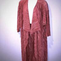 New! Lularoe Shirley Kimono Duster Medium Open Front Cardigan Ribbed Dusty Rose