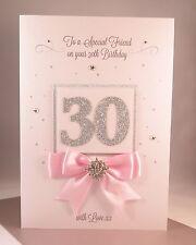 LUXURY THIRTIETH 30th Large Handmade  Birthday Card - Daughter Granddaughter