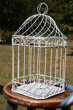 "DIY Bird Cage Candle Display, DIstressed Bird Cage Craft Supplies, 14"" tall"
