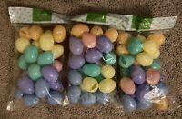 72 Bulk Plastic Easter Basket Eggs Multi color pastel Fillable empty lot filler