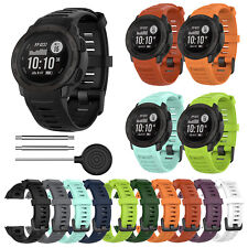 For Garmin Instinct/Instinct Tide/Tactical Silicone Watch Band Strap with Tools
