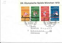 CLB158) Nice W. Germany 1972 Cover Munich Olympics M/S