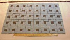 Vintgage 1950's Pinwheel Floor Tiles *Blue-gray with black dots* matte NOS