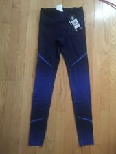 Under Armour Women's XS HeatGear Armour Leggings Black Blue $149 New