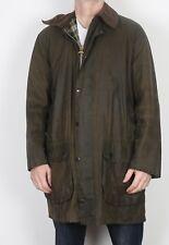 "BARBOUR Border Wax Jacket Chest 42"" Medium Large Green (4CI)"