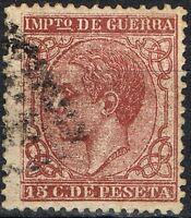 [CF4105] España 1877, Impuesto de Guerra, 15 cent., matasellado (U)
