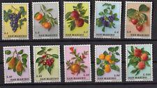 San Marino 1973 serie nuova 10 valori MNH** frutta