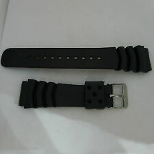 REPLACEMENT SEIKO 22MM Z22 WAVE VENT PVC RUBBER STRAP SKX007, 6309, 7002, 7548