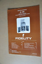 Fidelity IS300 stereo music stack system part no 44714 Genuine Service Manual