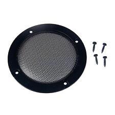 1 pc 4 '' negro audio altavoz tapa decorativo círculo metal malla rejilla SA