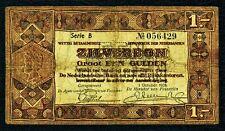 NIEDERLANDE. 1 Gulden 1938. P. 61. Serie B. Selten!
