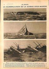 Bateaux Alliés Torpille Sous-Marins de Kaiserliche Marine WWI 1917 ILLUSTRATION