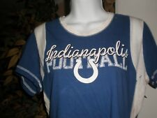 NEW NFL APPAREL Indianapolis Colts WOMEN T-SHIRT SZ:L