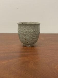 Tatsuzo Shimaoka Japanese Mashiko pottery inlay Yunomi Tea Cup bowl