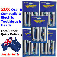 20X Compatible Oral B Tooth Brush Heads  for Oral B Electric - Aussie Seller