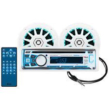 "Boss Audio MR762BRGB Receiver One Pair 6.5"" Marine MRGB65 Speakers & MRANT10"