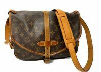AUTH Louis Vuitton Shoulder Bag Saumur 30 M42256 Browns Monogram B-1069