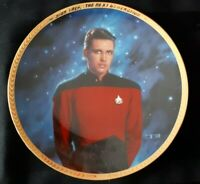"Star Trek plate ""Ensign Wesley Crusher"" mint condition in original box (9)"