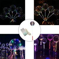 AU_ LED Luminous Balloon Light Transparent Wedding Birthday Party Decor Novelty