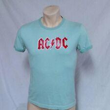VTG ACDC T Shirt Ringer 50/50 Tour Concert 70s Tee Original 80s Rock Metal Large