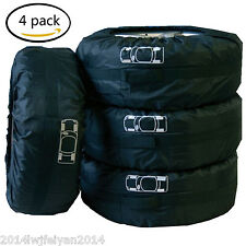 """4x Car SUV Spare Wheel Tyre Tire Protection Storage Bag 16""""-19"""" Carry Tote Cover"""