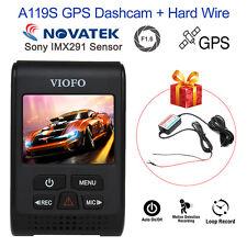 Viofo A119S V2 Novatek 96660 GPS Car Dash Camera + Hardwire Kit Vehicle Recorder