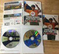 Tiger Woods PGA Tour 08 09 Nintendo Wii 2 Game Bundle