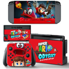 Ci-Yu-Online [NS] Super Mario Odyssey Red VINYL SKIN DECAL Nintendo Switch
