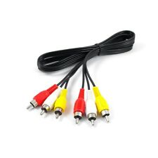 RCA Red-White-Yellow Audio-Video Patch Cable - 3'
