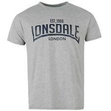 LONSDALE Men's Box T-Shirt Top - Size 2XL & 4XL - Grey/Marble - OZ STOCK!