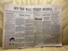 RARE Off The Wall Street Journal April 1, 1982, Tony Hendra Parody Newspaper