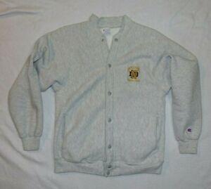 Vintage 90s Champion Reverse Weave Notre Dame Fightin' Irish Snap Stadium Medium